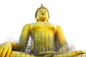 Under Construction Big Buddha Statue — Stock Photo