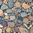 Stock Photo: Various pebble stones texture