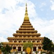 Temple in Thailand is named Phra-Mahathat-Kaen-Nakhon, Khon Kaen — Stock Photo