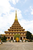 Temple in Thailand is named Phra-Mahathat-Kaen-Nakhon, Khon Kaen — Stock Photo