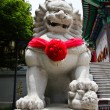 Chinese Lion Stone Sculpture in the Chinese Temple in Nonthaburi — Stock Photo #27650195