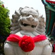 Chinese Lion Stone Sculpture in the Chinese Temple in Nonthaburi — Stock Photo #27650097