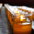 Stock Photo: Candles in Chinese Temple.