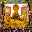 Stock Photo: Buddhas inside Wat Chalong temple, Phuket, Thailand.