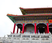 Belos edifícios no templo chinês, nonthaburi, tailândia. — Foto Stock