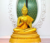 Buddha statue in temple, Thailand. — Stockfoto