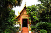 Buddhist temple named Wat Phra Kaew in Chiangrai province of Tha — Stock Photo