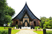 Black temple in Chiangrai province of Thailand — Stock Photo
