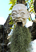 Devil head at white temple (Wat Rong Khun, Chiangrai, Thailand). — Stock Photo