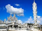 Thai temple called Wat Rong Khun at Chiang Rai, Thailand. — Stock Photo