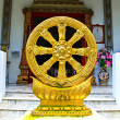 Stockfoto: Gold Thammachak Symbol of Buddhism