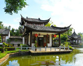 China Buddhist temple at Mae Fah Luang, University ,Chiangrai, — Stock Photo