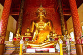 Golden buddha image, take from Chiangrai province, Thailand — Stock Photo