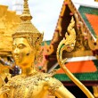 Golden kinnara statue in Grand palace Bangkok,Thailand. — Stock Photo