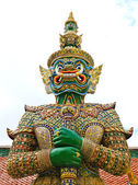 Guardian Statue at Wat Phra Kaew Grand Palace Bangkok — Stock Photo