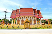 Thailand Temple on blue sky — Stock Photo