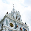 White church in Samut Songkhram, Thailand. — Stock Photo