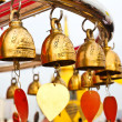 Buddhist bells in Wat Saket (The Golden Mount), Bangkok, Thailan — Stock Photo #27817211