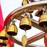 Buddhist bells in Wat Saket (The Golden Mount), Bangkok, Thailan — Stock Photo