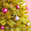 Close-up of decorated x-mas tree — Stok Fotoğraf #27822611