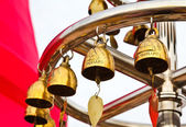 Buddhist bells in Wat Saket (The Golden Mount), Bangkok, Thailan — Stock Photo