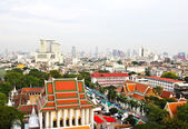 Aerial view of Bangkok from Golden Mount and part of Wat Saket, — Stock Photo