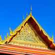 Temple roof, Wat Pho, Bangkok, Thailand — Stock Photo