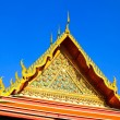 Temple roof, Wat Pho, Bangkok, Thailand — Stock Photo #27858401
