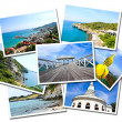 Stock Photo: Collage of Sichang Islands ,Chonburi, Thailand postcards isolate