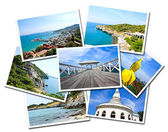 Collage of Sichang Islands ,Chonburi, Thailand postcards isolate — Stock Photo