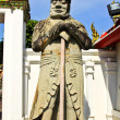 Chinese statue at wat pho temple ,bangkok, thailand — Stock Photo