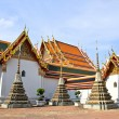 Pagoda in Wat Pho Temple ,Bangkok Thailand — Stock Photo