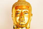 Zamknij się obraz rzeźby złotego buddy od świątyni wat pho, b — Zdjęcie stockowe
