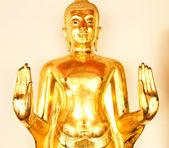 Zlatý obraz buddhy v chrámu wat pho, bangkok, thajsko. — Stock fotografie