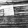 Old corrugated iron fence for background, black and white versio — Stock Photo