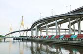 Bhumibol Bridge , Bangkok, Thailand — Zdjęcie stockowe