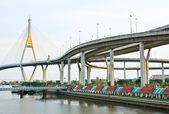 Bhumibol Bridge , Bangkok, Thailand — Stock Photo