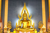 The famous Golden Buddha image in Wat Benchamabophit (Marble Tem — Stock Photo