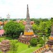 Buddhist temple - Wat Yai Chai Mongkon at Historical city Ayutth — Stock Photo
