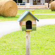 Beautiful bird house in a farm — Stock Photo