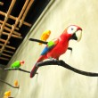 Stock Photo: Bird sculpture colorful on wall