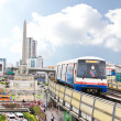 BANGKOK - SEP 16: A BTS Skytrain in the city on September 16, 20 — Stock Photo
