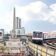 Stock Photo: BANGKOK - SEP 16: BTS Skytrain in city on September 16, 20