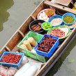Traditional floating market , Thailand. — Stock Photo