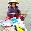 SAMUT SONGKHRAM, THAILAND - SEP 21:Local merchant sell food ,fru — Stock Photo