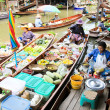 Stock Photo: SAMUT SONGKHRAM, THAILAND - SEP 21:Local merchant sell food ,fru