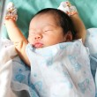 Newborn asian baby girl in hospital — Stock Photo