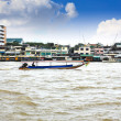 Boat on Chao Phraya river ,Bangkok,Thailand — Stock Photo