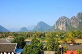 View of Vang Vieng, Laos. — Stock Photo