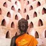 Buddha Image at Wat Si Saket in Vientiane, Laos. — Stock Photo #41175691